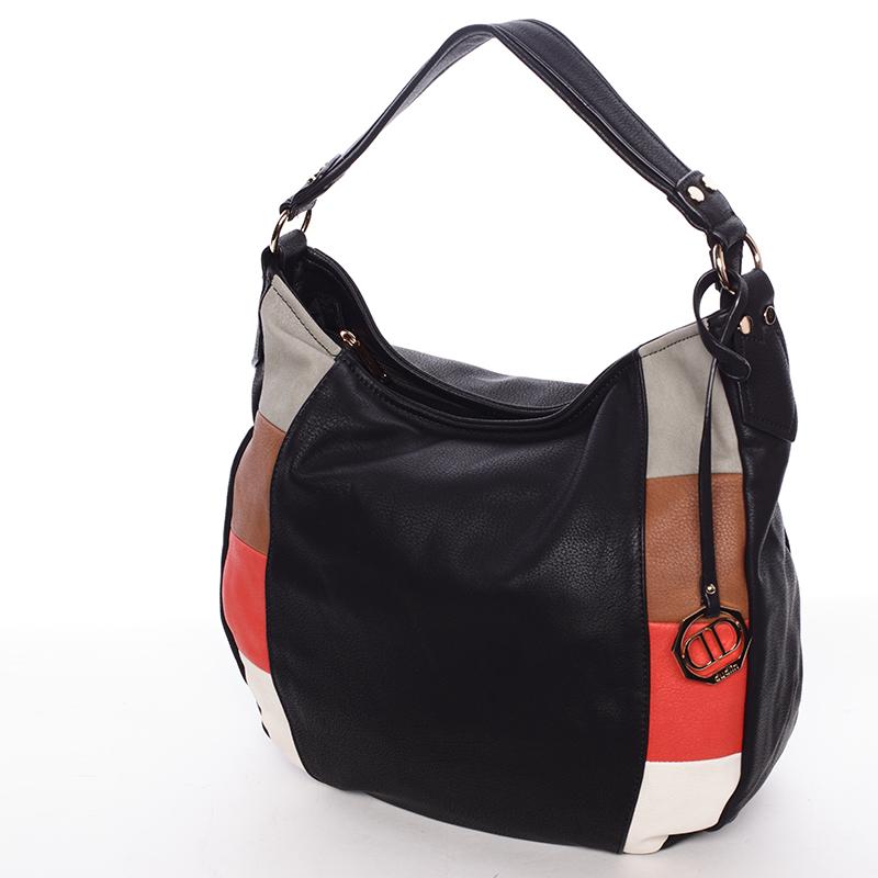 Originální dámská kabelka přes rameno černá - Dudlin Manon