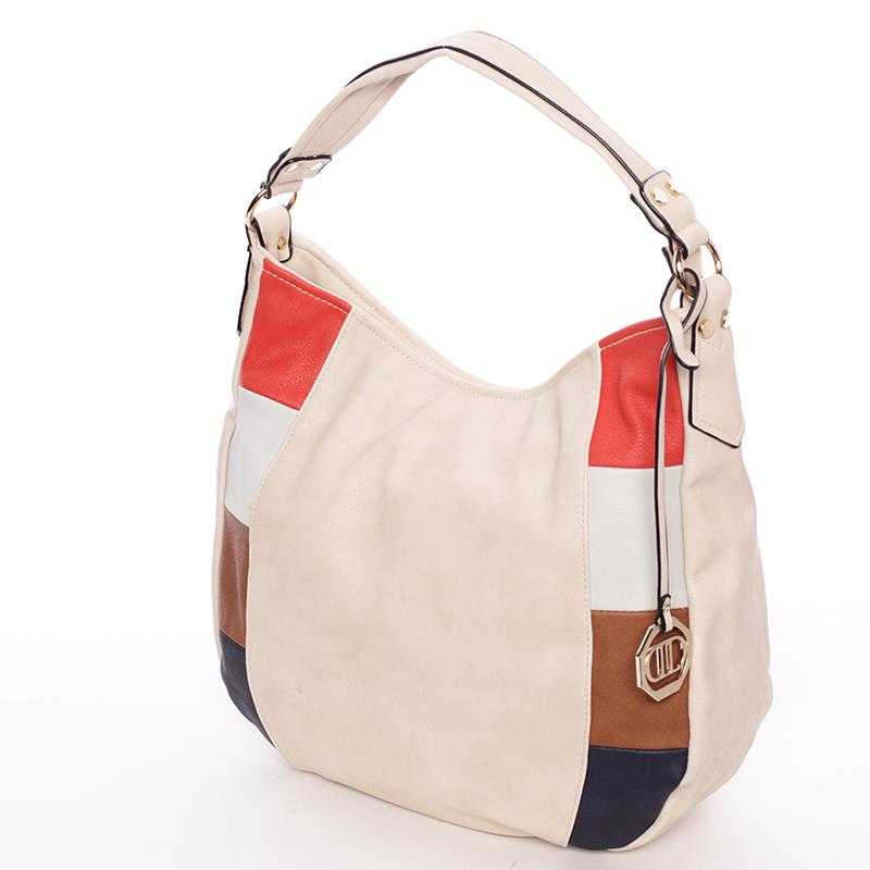 Originální dámská kabelka přes rameno béžová - Dudlin Manon