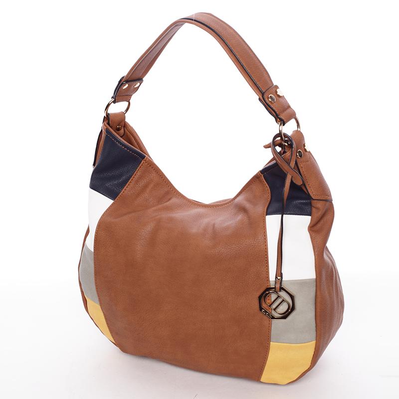 Originální dámská kabelka přes rameno hnědá - Dudlin Manon