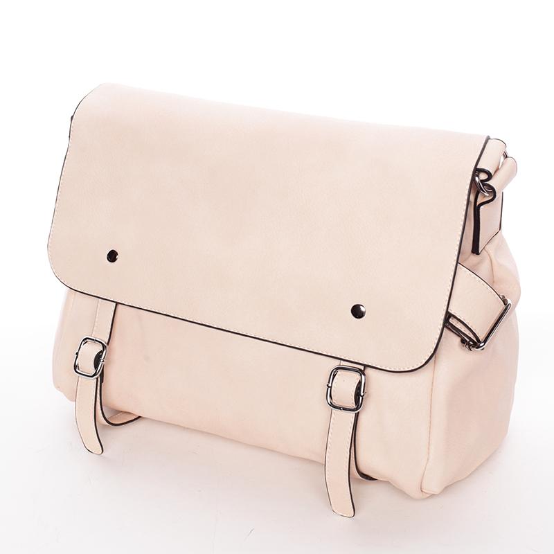 Trendy dámská crossbody kabelka růžová - Dudlin Allete