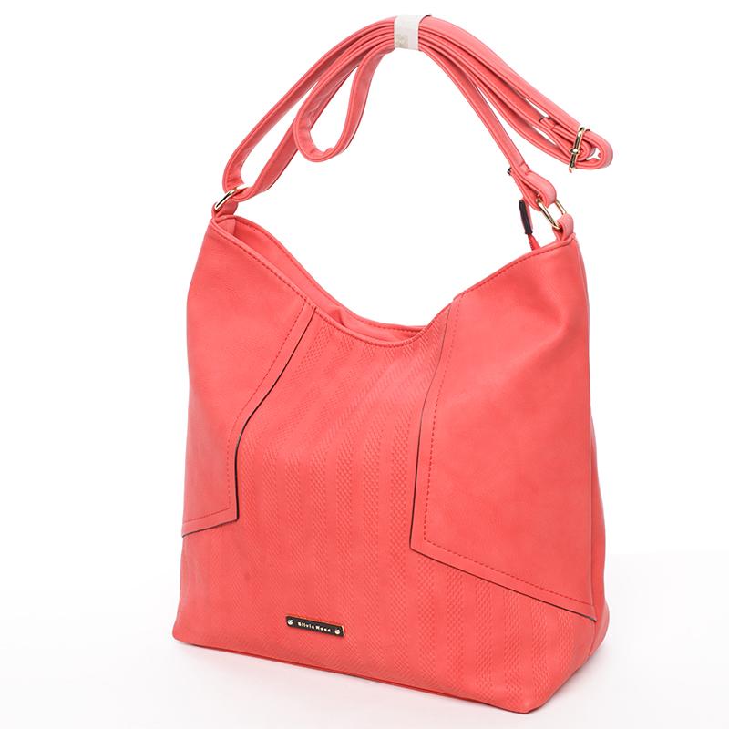 Módní dámská kabelka přes rameno červená - Silvia Rosa Dorene