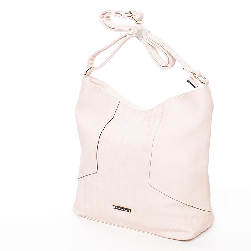 Módní dámská kabelka přes rameno růžová - Silvia Rosa Dorene