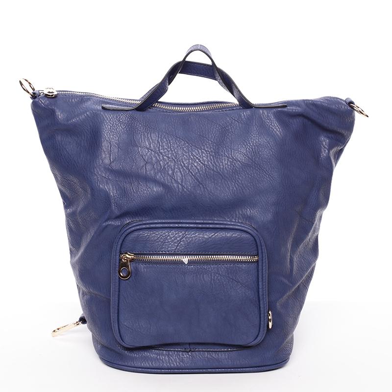 Módní dámská crossbody kabelka modrá - Delami Mai