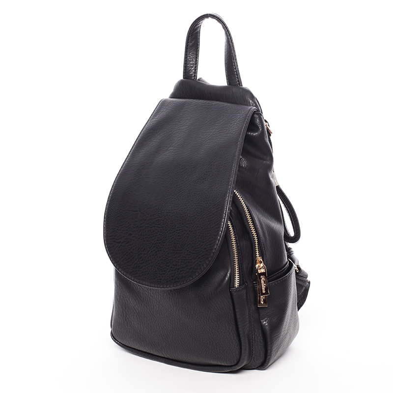 Dámský trendy batůžek černý - Silvia Rosa Maycee