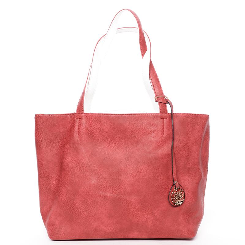 Moderní dámská kabelka přes rameno červená - Dudlin Richere