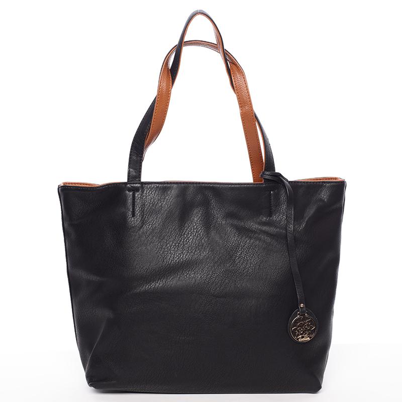 Moderní dámská kabelka přes rameno černá - Dudlin Richere