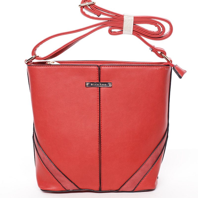 Trendy crossbody kabelka červená - Silvia Rosa Claribel