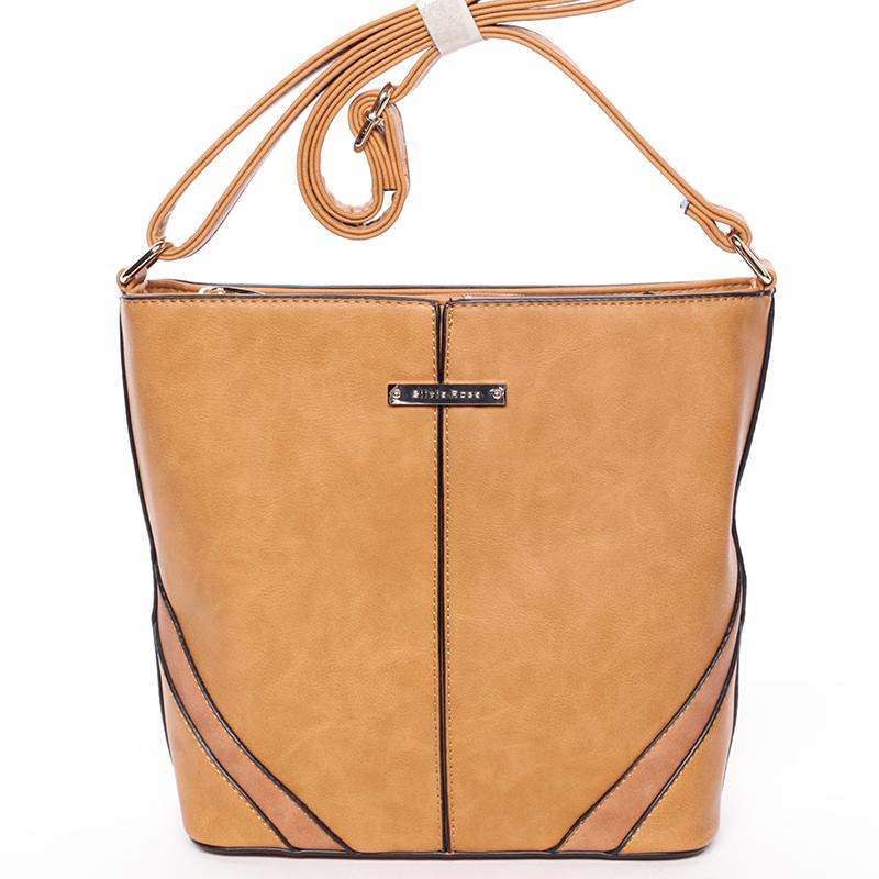 Trendy crossbody kabelka hnědá - Silvia Rosa Claribel
