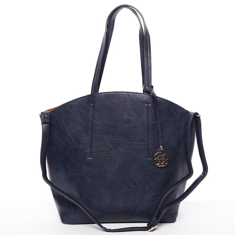 Elegantní dámská kabelka přes rameno modrá - Dudlin Heloise