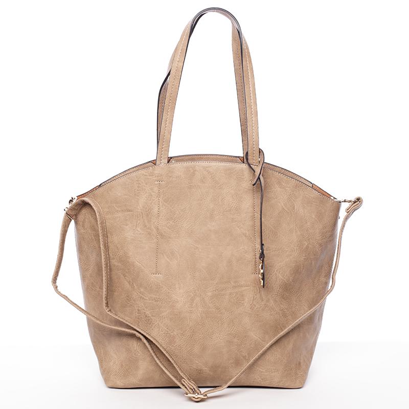 Elegantní dámská kabelka přes rameno taupe - Dudlin Heloise