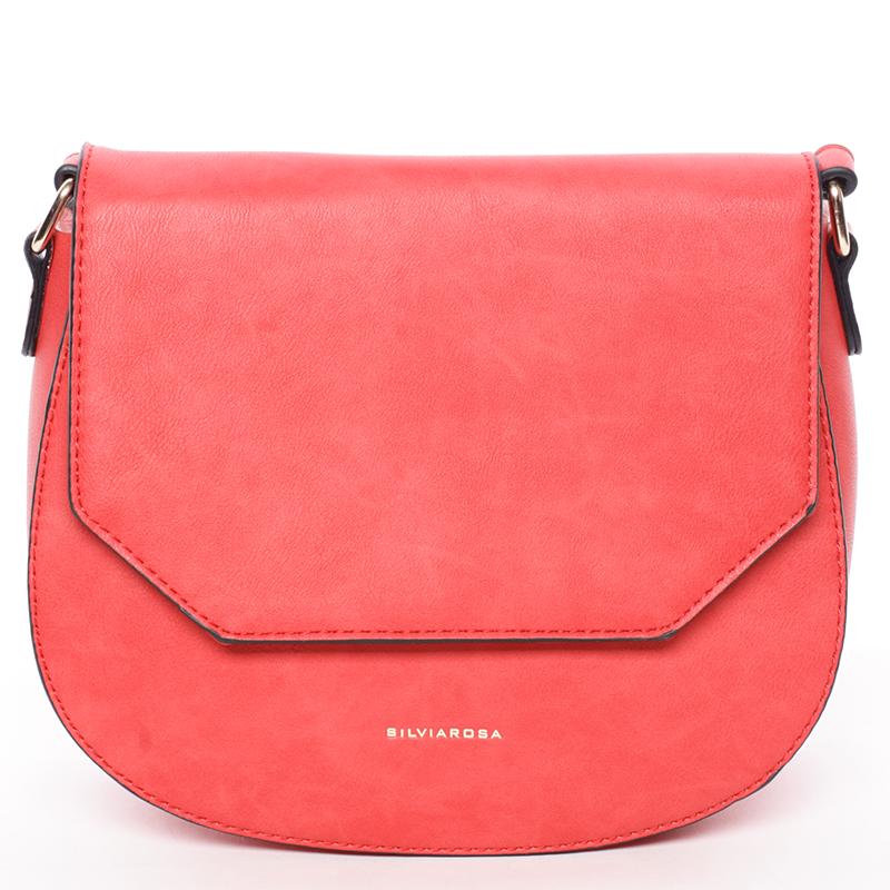 Exkluzivní crossbody kabelka červená - Silvia Rosa Katriane