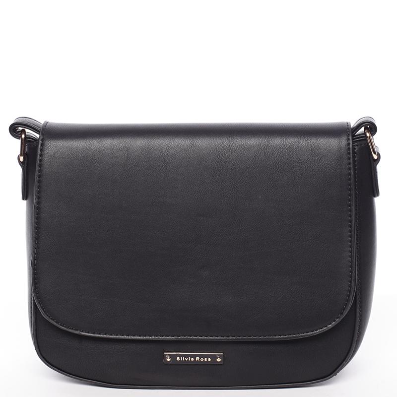 Elegantní crossbody kabelka černá - Silvia Rosa Valere