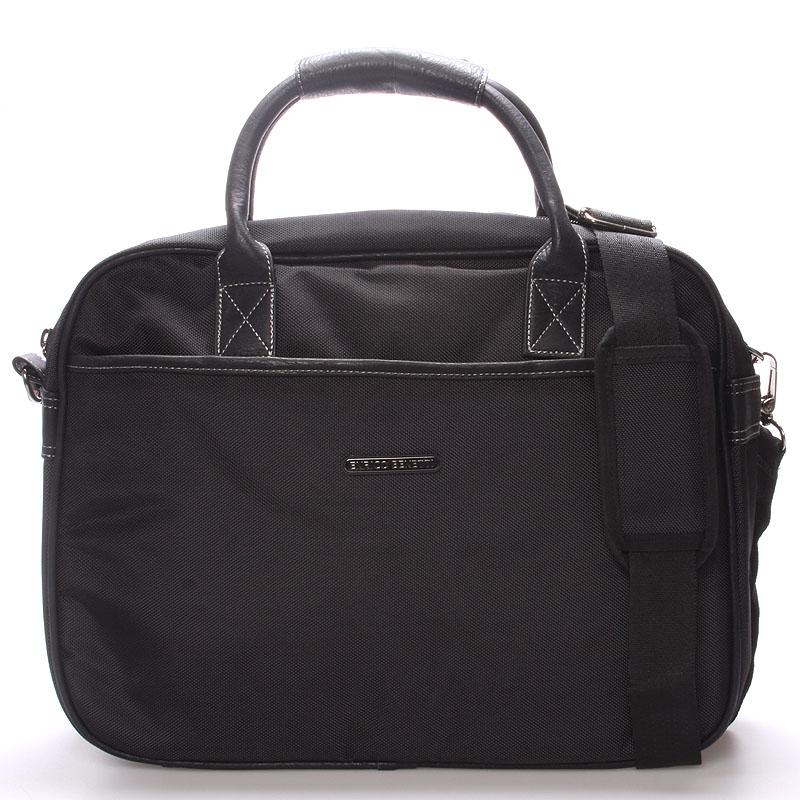 Unisex taška brašna přes rameno černá - Enrico Benetti 7111
