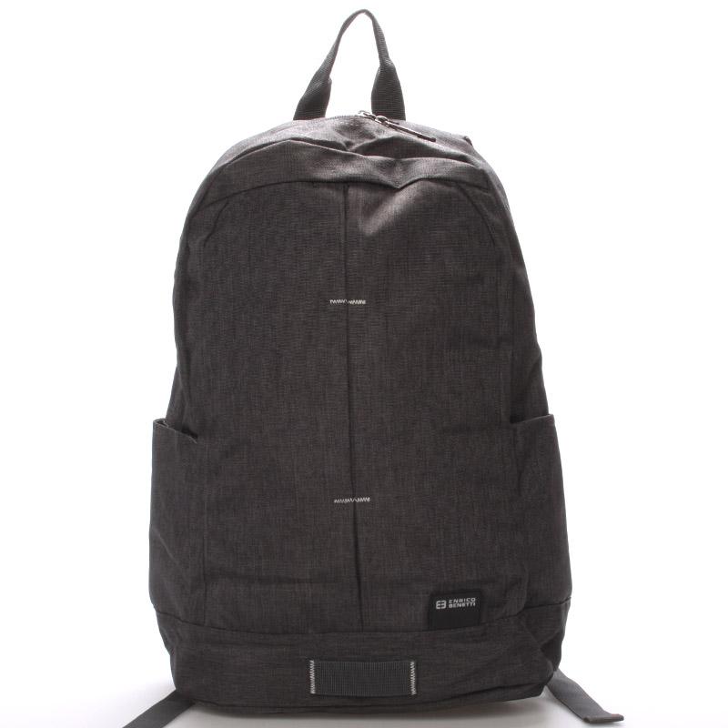 Školní jednoduchý šedý batoh - Enrico Benetti Achilleas