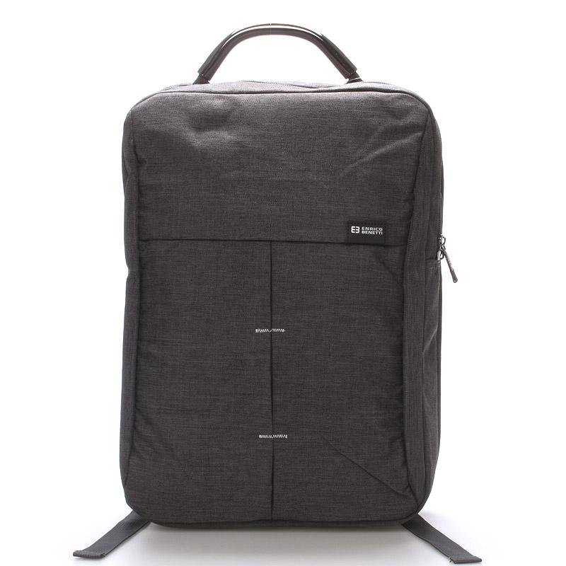 Jedinečný moderní šedý batoh - Enrico Benetti Achelous