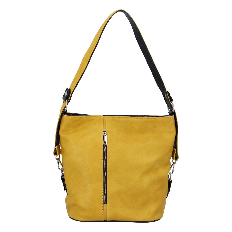 Dámská kabelka přes rameno žlutá - Ellis Haarlem