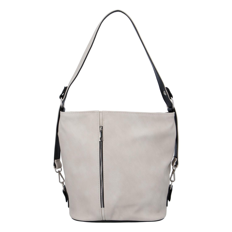 Dámská kabelka přes rameno krémově šedá - Ellis Haarlem