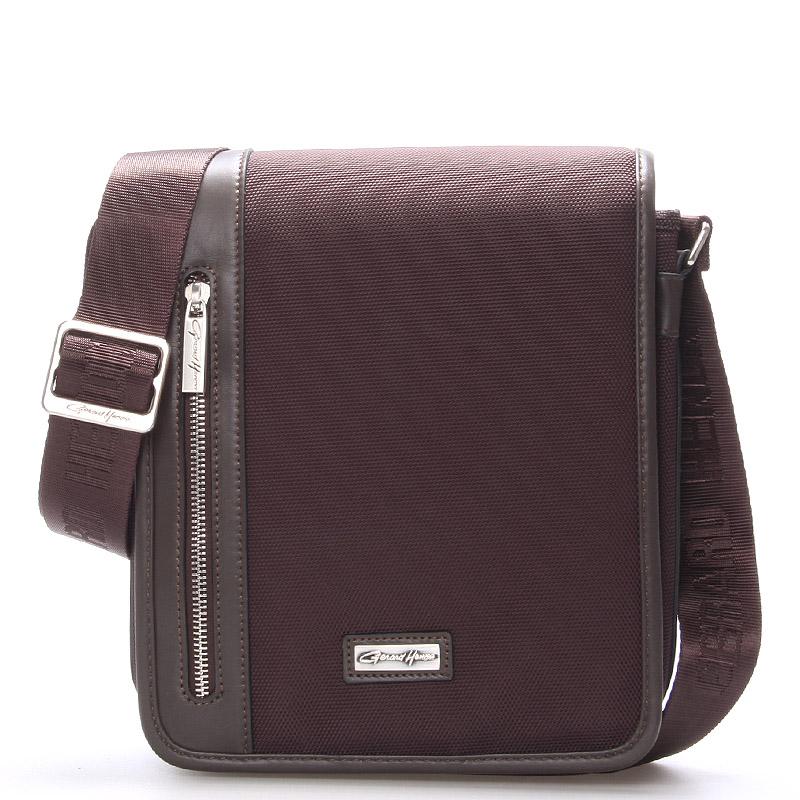 Pánská taška přes rameno hnědá - Gerard Henon Pierre