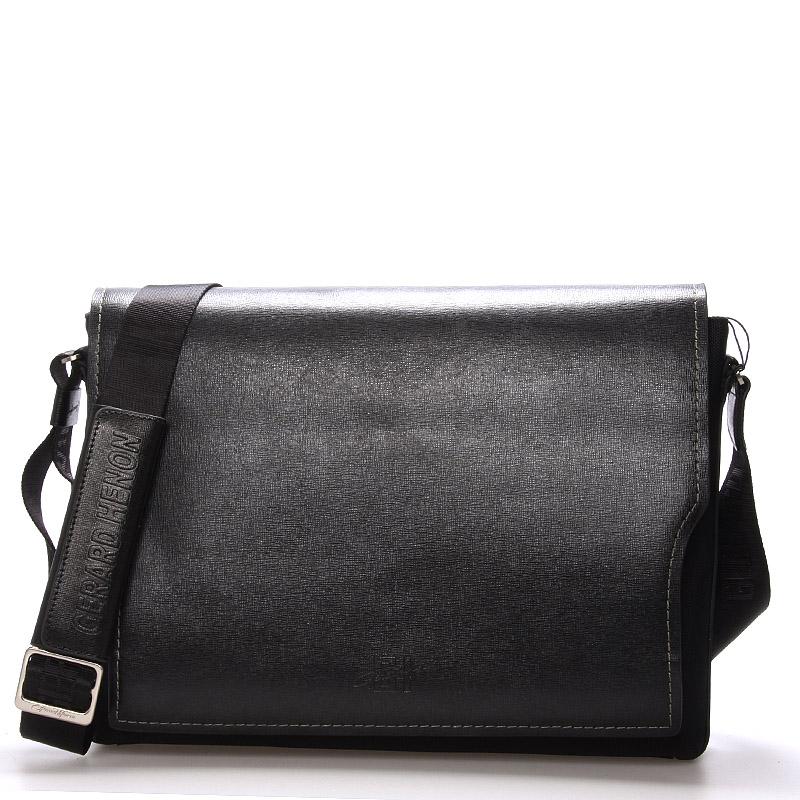 Pánská kožená taška přes rameno černá - Gerard Henon Jean