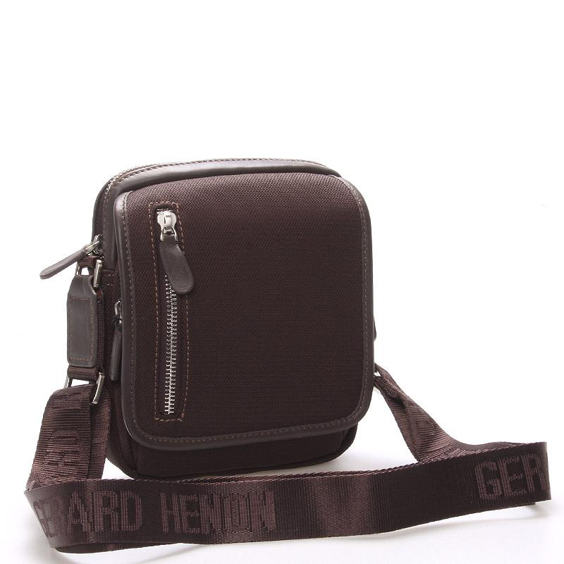 Pánská taška přes rameno na doklady hnědá - Gerard Henon Andre