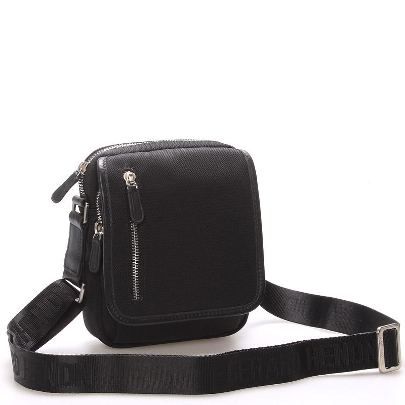 Pánská taška přes rameno na doklady černá - Gerard Henon Andre