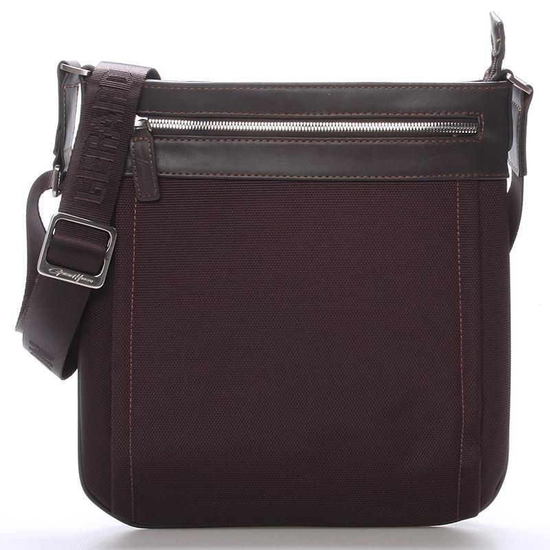 Pánská taška přes rameno na doklady hnědá - Gerard Henon Daniel