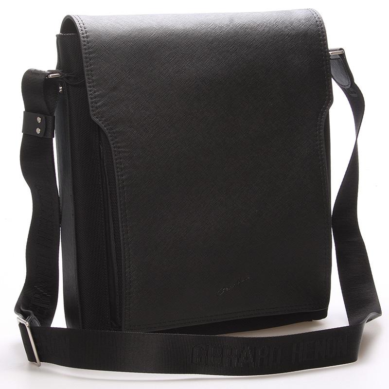 Pánská kožená taška přes rameno černá - Gerard Henon Bernard