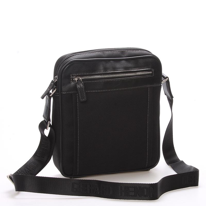 Pánská taška přes rameno na doklady černá - Gerard Henon Jacques