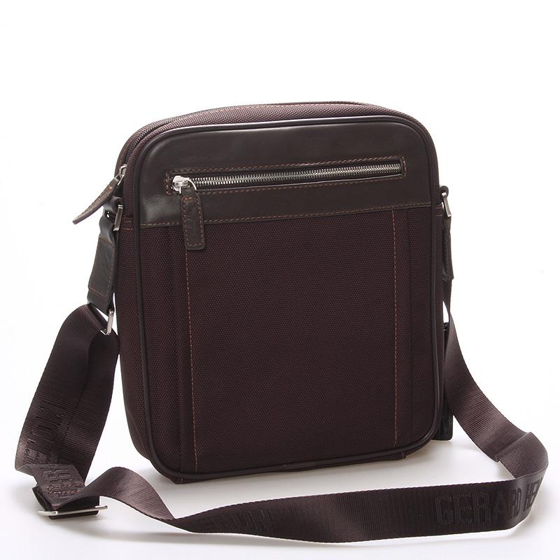 Pánská taška přes rameno na doklady hnědá - Gerard Henon Jacques
