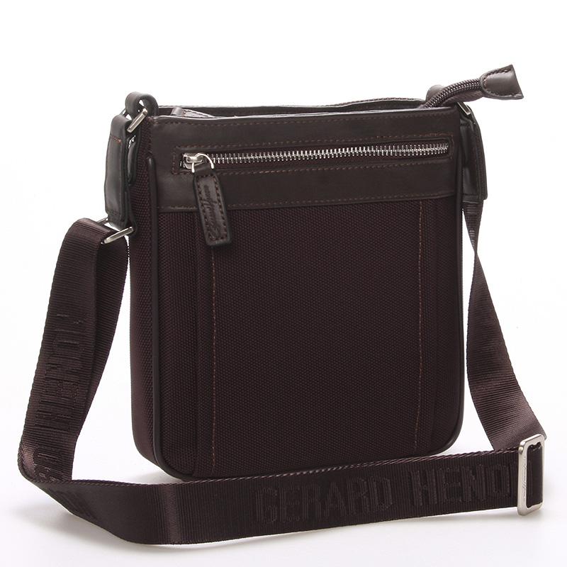 Pánská taška přes rameno na doklady hnědá - Gerard Henon Nicolas
