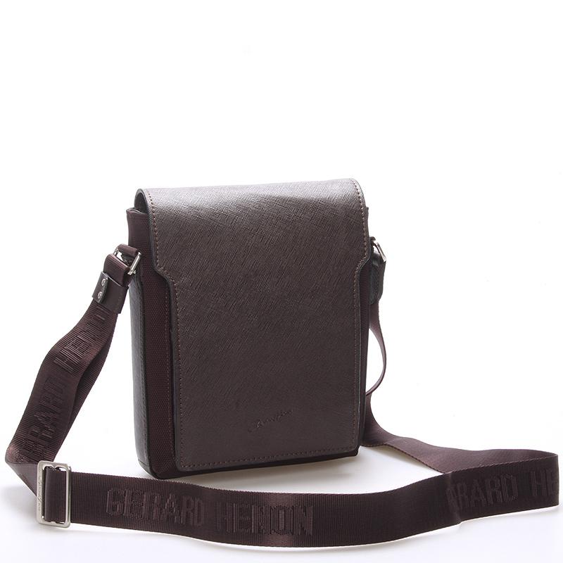 Elegantně sportovní taška přes rameno na doklady hnědá - Gerard Henon Rene