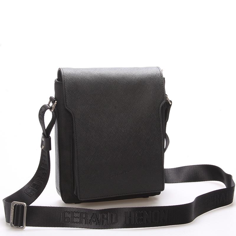 Elegantně sportovní taška přes rameno na doklady černá - Gerard Henon Rene