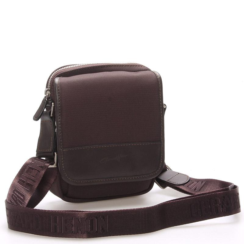 Pánská taška přes rameno na doklady hnědá - Gerard Henon Eric