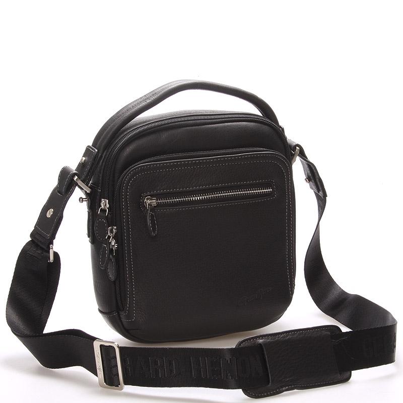 Luxusní pánská kožená taška černá - Gerard Henon Robbie
