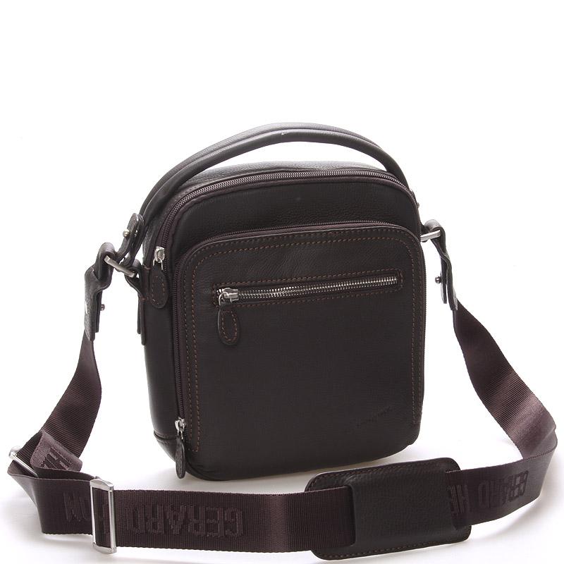Luxusní pánská kožená taška hnědá - Gerard Henon Robbie