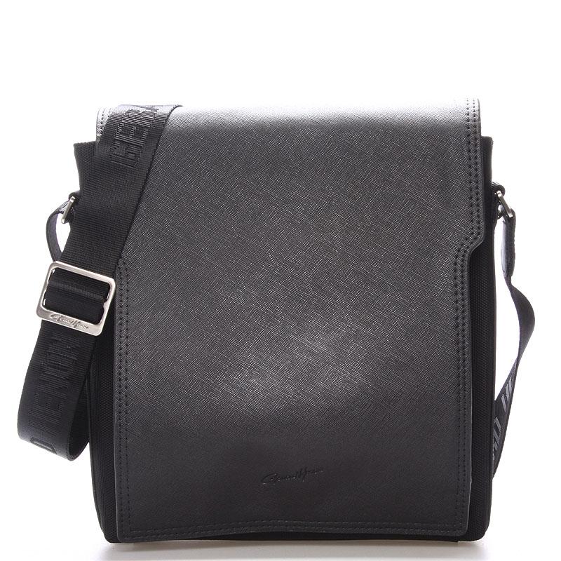 Pánská kožená taška přes rameno černá - Gerard Henon Curtiss