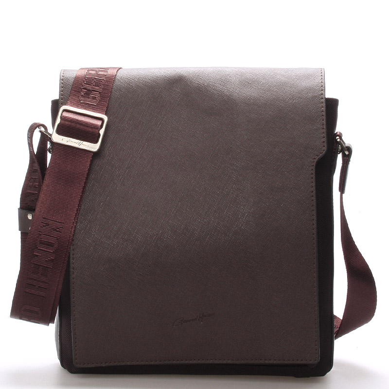 Pánská kožená taška přes rameno hnědá - Gerard Henon Curtiss
