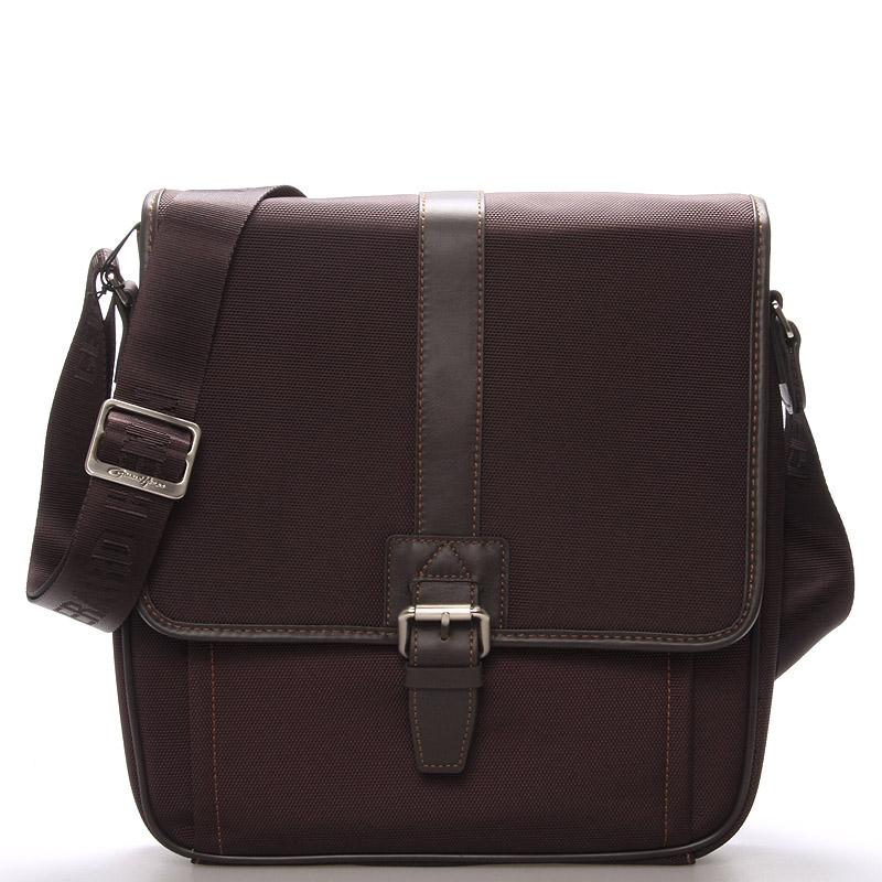 Pánská taška přes rameno hnědá - Gerard Henon Olivier