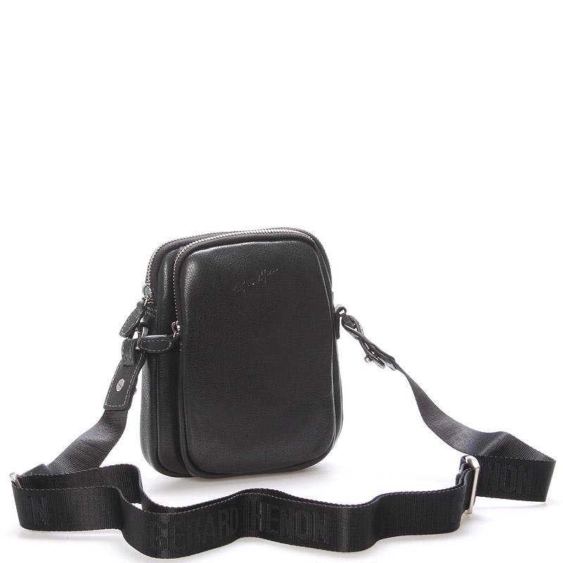 Pánská kožená taška přes rameno na doklady černá - Gerard Henon Tristan