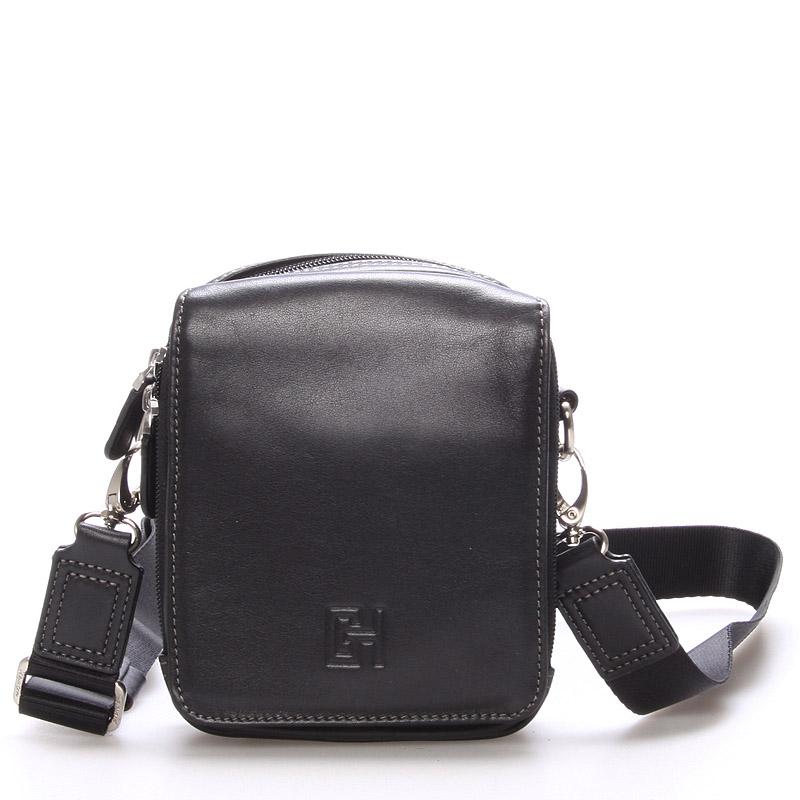 Pánská taška přes rameno na doklady černá - Gerard Henon Delrico