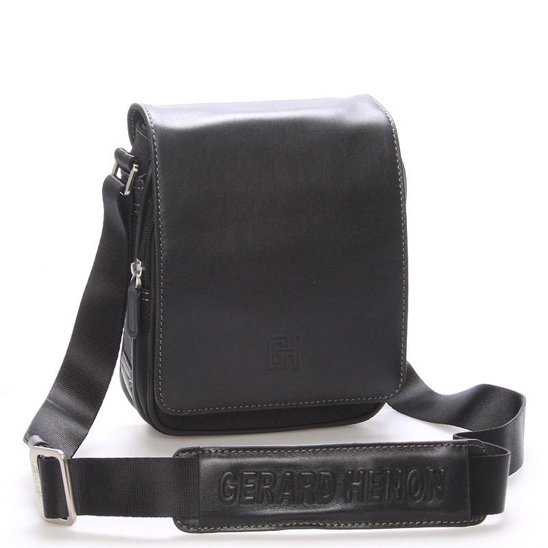 Pánská taška přes rameno na doklady černá - Gerard Henon Lennard