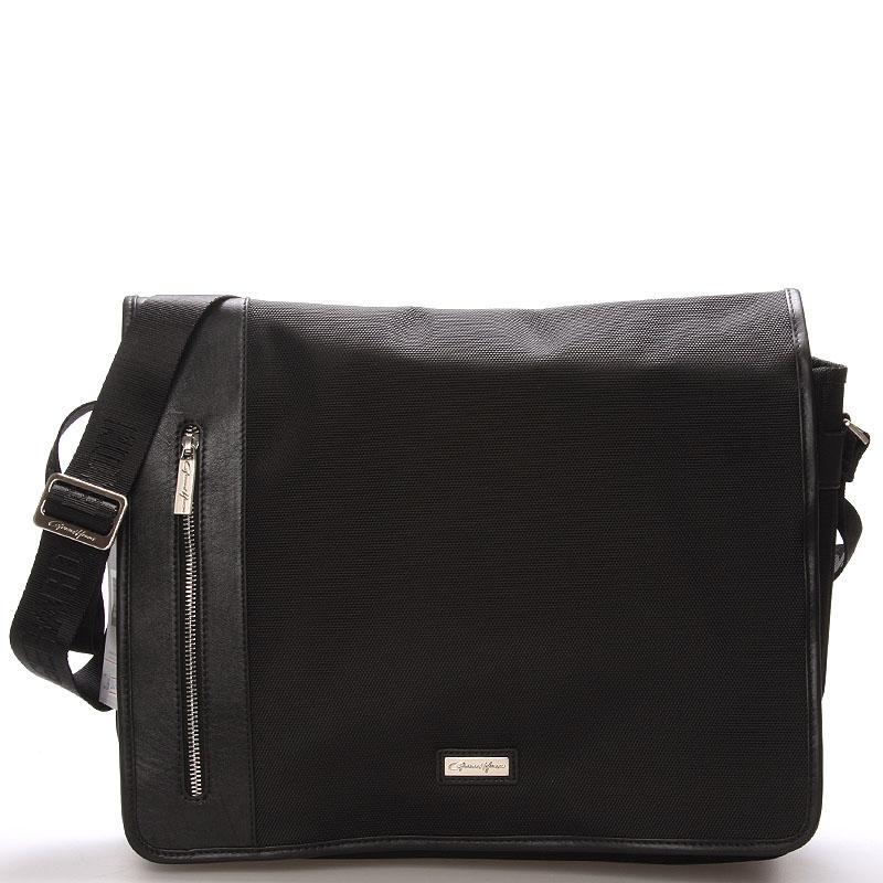 Pánská taška přes rameno černá - Gerard Henon Warrane