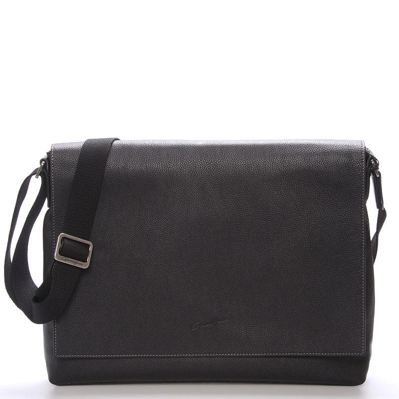Pánská elegantní taška přes rameno černá - Gerard Henon Robbi