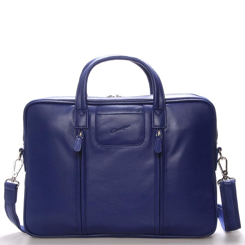 Luxusní kožená taška přes rameno modrá - Gerard Henon Derell