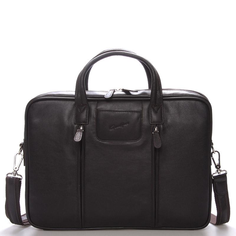 Luxusní kožená taška přes rameno hnědá - Gerard Henon Derell