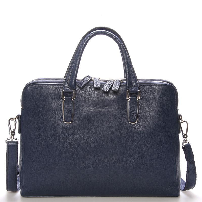 Luxusní kožená taška modrá - Gerard Henon Edmond