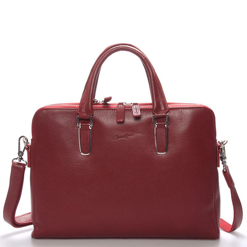 Luxusní kožená taška červená - Gerard Henon Edmond