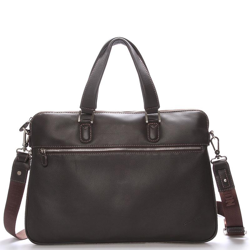Luxusní kožená taška přes rameno hnědá - Gerard Henon Garron