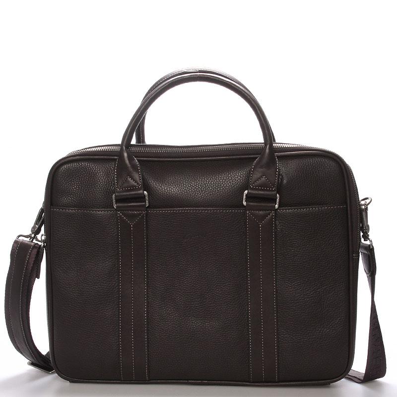 Luxusní kožená taška hnědá - Gerard Henon Cyrano