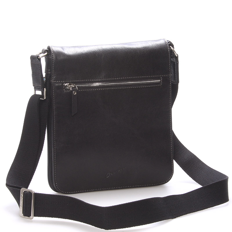 Pánská kožená taška přes rameno černá - Gerard Henon Archard
